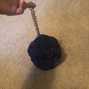 Royal Blue Rose Wristlet
